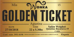 10% Off en 40 Tarjetas Golden Tickets