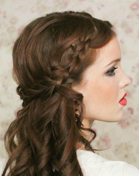 Peinado Alto Con Bucles Para Tus 15 Anos Seccion De Maquillaje Y