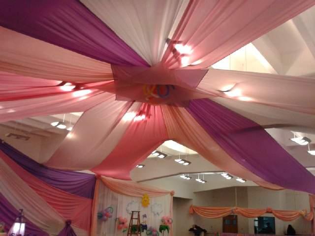 Ideas para decorar el saln para fiestas blog de la for Telas para decorar salones