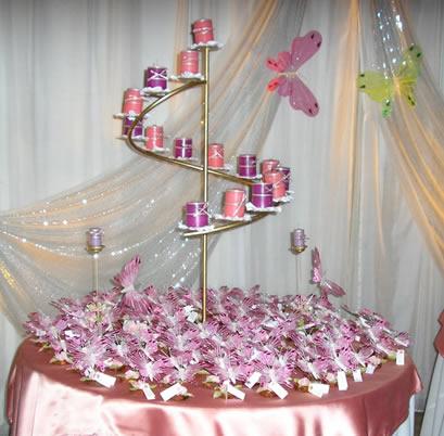 Centros de mesa candelabro de hierro porta velas decorado - Mesa de hierro ...