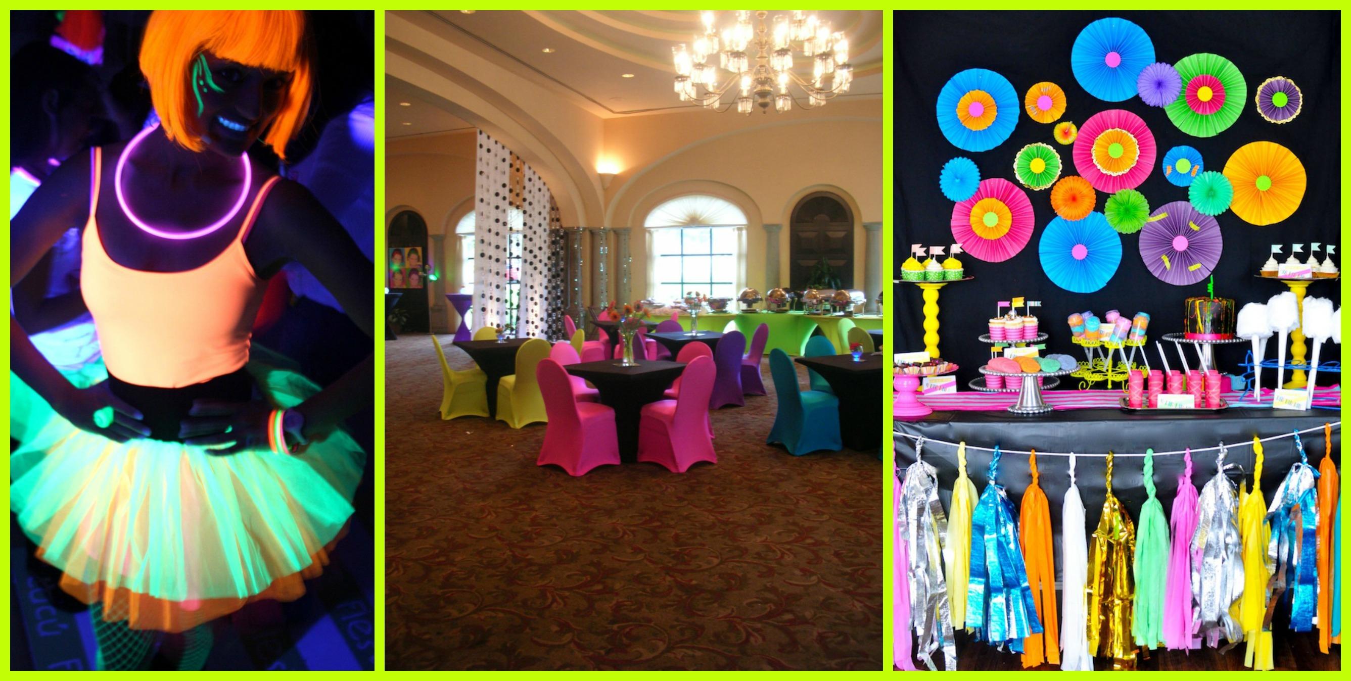 Fiesta flourescente blog de la fiesta de 15 for Ornamentacion para fiesta de 15