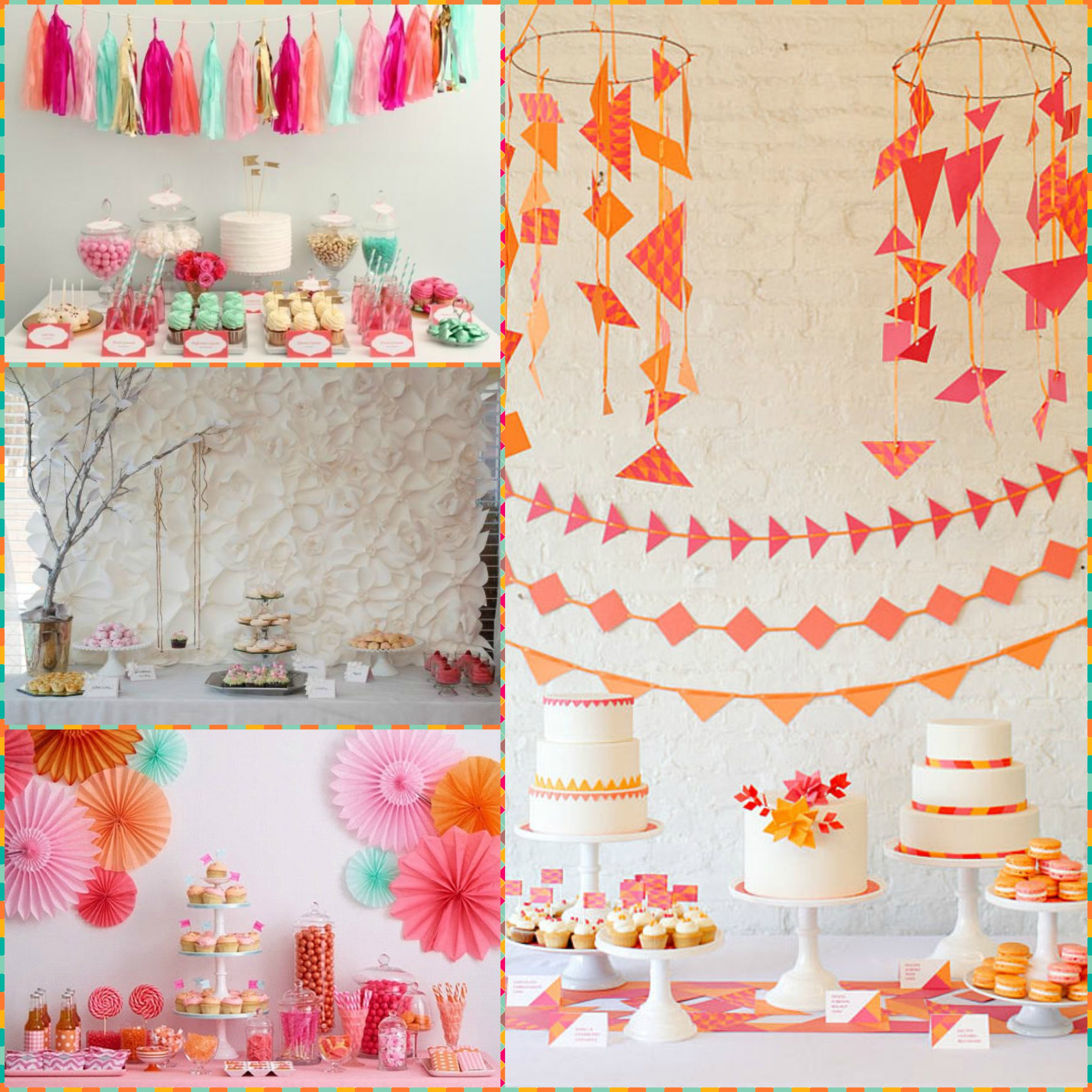 Decoraciones en papel blog de la fiesta de 15 for Papel de decoracion para paredes