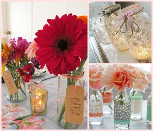 Ideas para decorar tu evento con frascos y botellas blog for Decoracion 10 de mayo