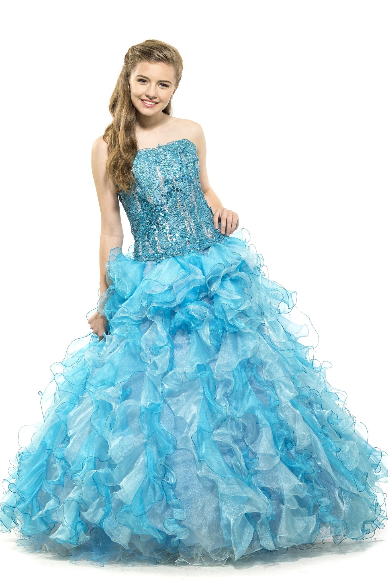 Sky Blue Wedding Dress