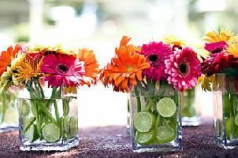 Ideas Para Centros De Mesa Con Flores Blog De La Fiesta De 15 - Centros-de-mesa-de-flores-naturales