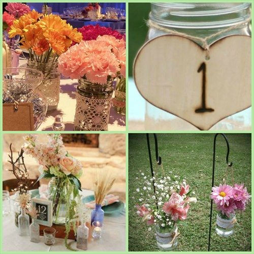 Ideas para decorar tu evento con frascos y botellas blog - Como decorar mesas para fiestas ...